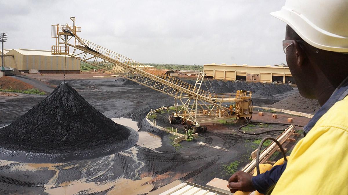 La production de sables minéralisés